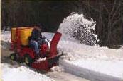 Шнек с регулируемой высотой выброса снега