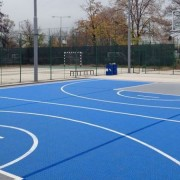 Баскетбольная площадка из резиновой крошки (наливное покрытие)