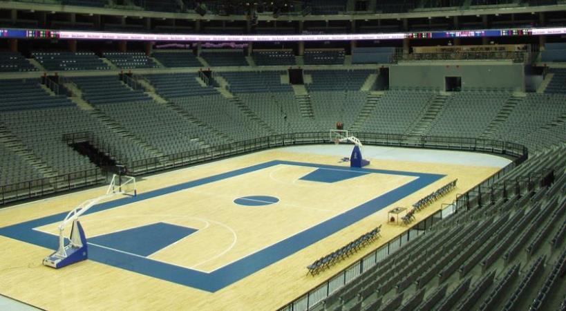 Баскетбольная площадка из паркетной доски