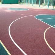 Баскетбольная площадка из акрилового покрытия (наливное покрытие)