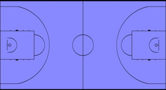 Баскетбольная площадка прямоугольной формы