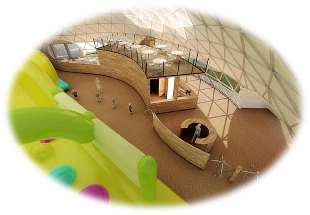 Детский комплекс под куполом