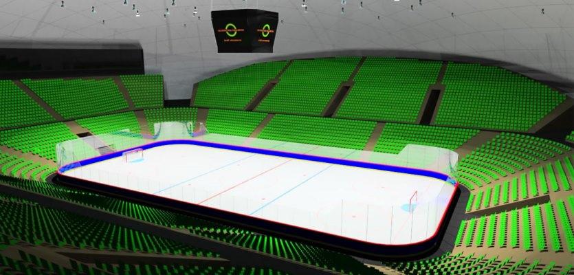 Купольное сооружение для хоккея