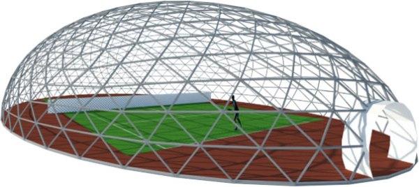 Купольное сооружение для тенниса