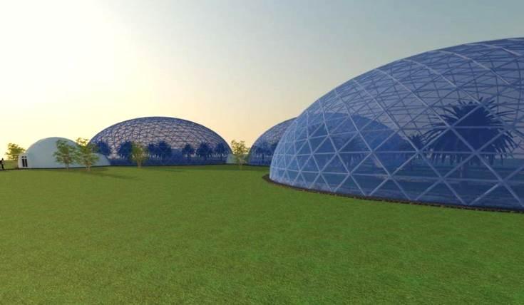 Ботанический сад из купольной конструкции
