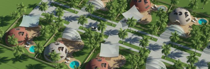 Жилые дома из купольной конструкции