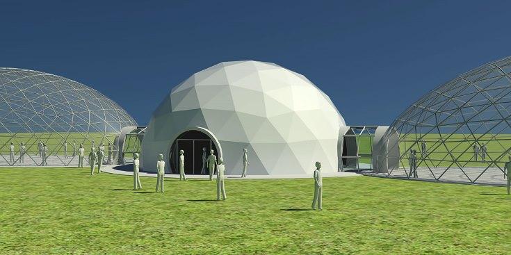 Теплица из купольной конструкции