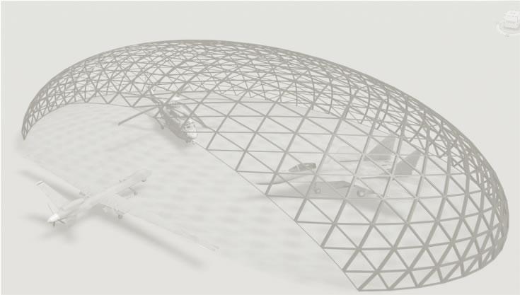 Военные маскировочные сооружения из купольной конструкции
